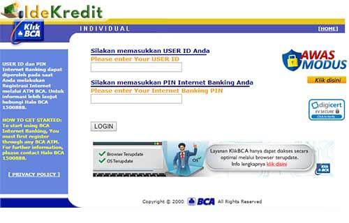 12 Cara Bayar Kartu Kredit Bca Melalui Klik Bca Idekredit