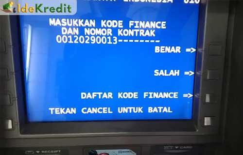 Bayar Angsuran FIF Lewat ATM Bank