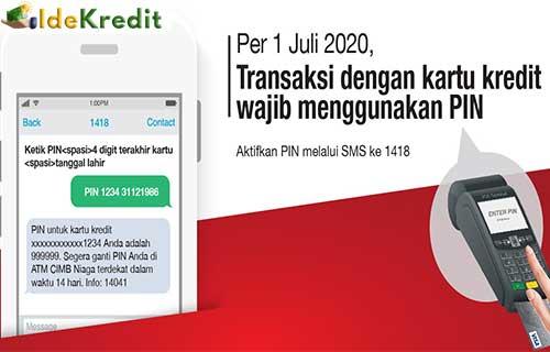 Buat PIN Kartu Kredit CIMB Niaga via SMS