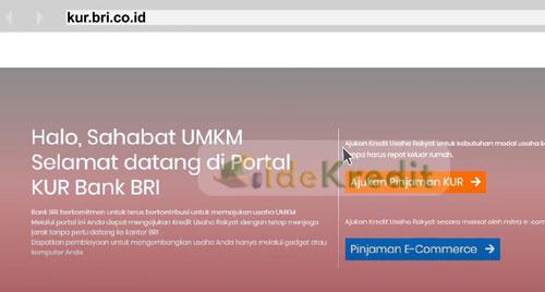 1 Silahkan buka website kur.bri .co .id