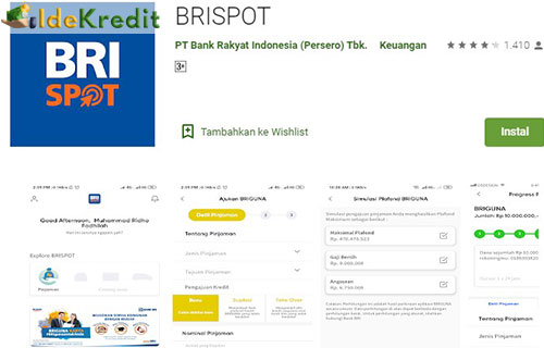 1. Silahkan instal aplikasi BRISPOT di HP Android kamu