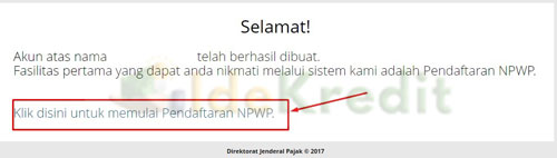 5. Memulai Pendaftaran NPWP