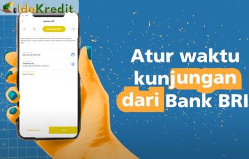 6. Atur waktu kunjungan dari bank BRI ke rumah kamu