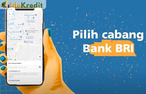 7. Pilih cabang bank BRI terdekat dengan tempat tinggal kamu