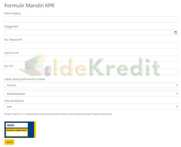 formulir Mandiri KPR