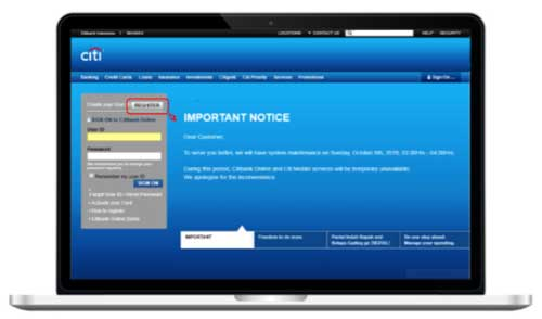 Buka Citibank Online