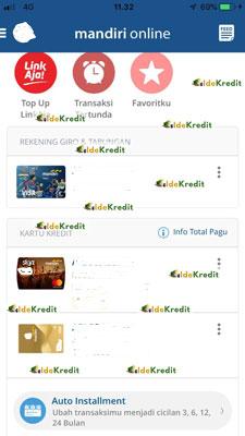 2. Selanjutnya scroll ke bagian bawah sampai menemukan menu Auto Installment klik menu tersebut