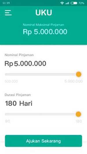 Pilih nominal dan tenor pinjaman