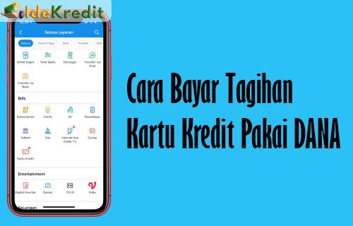 Cara Bayar Tagihan Kartu Kredit Pakai DANA