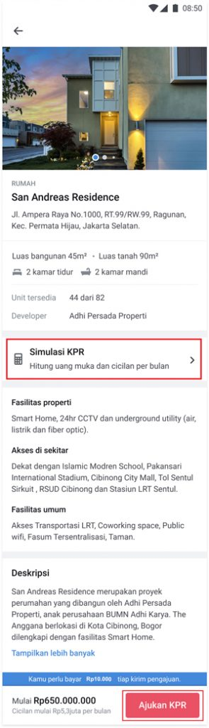 Klik Ajukan KPR