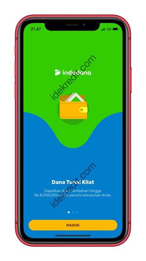 Masuk ke aplikasi Indodana