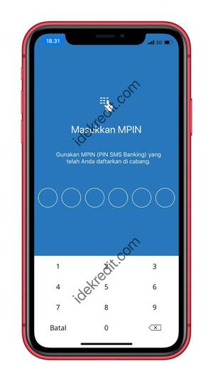 Masukkan PIN Transaksi Mandiri Online