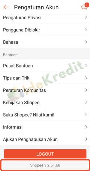 Update Versi Terbaru Aplikasi Shopee