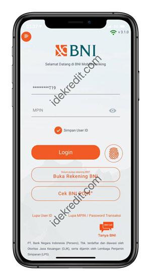 Masuk ke Aplikasi BNI Mobile Banking