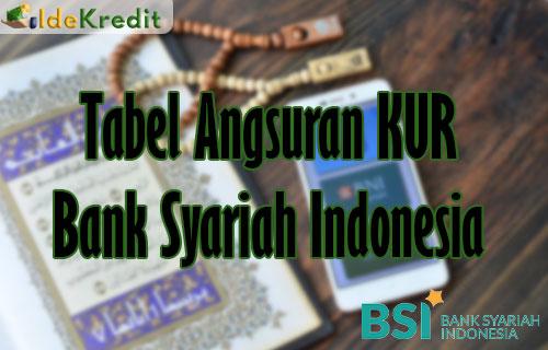 Tabel Angsuran KUR Bank Syariah Indonesia