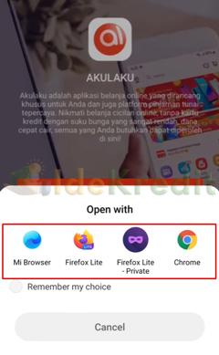 Buka dengan Browser Pilihan