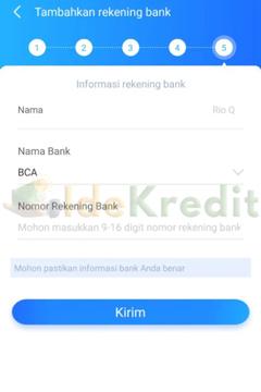 Masukkan Informasi Rekening Bank