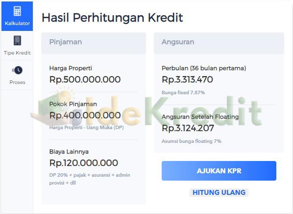 Simulasi Tabel Angsuran KPR Dbs Home Loan