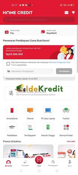 Buka Aplikasi Home Credit