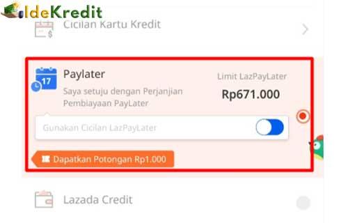 Bayar Belanjaan Menggunakan Lazada Paylater