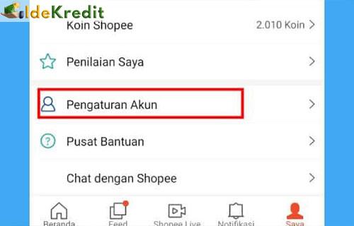 Lengkapi Data Akun Shopee