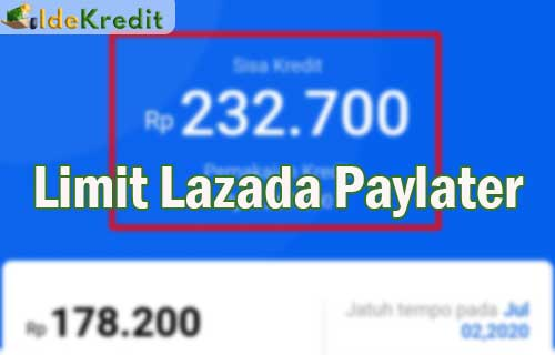 Limit Lazada Paylater