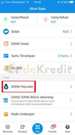 Pilih Dana Paylater