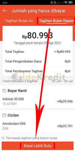 Pilih Total Tagihan Bulan Depan