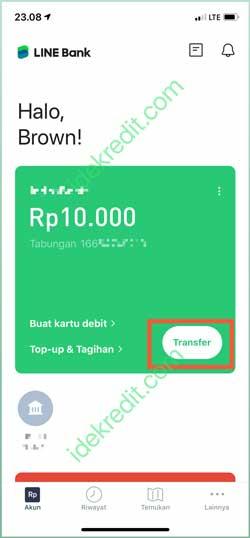 Buka Aplikasi Line Bank 1