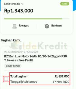 Ceklist Total Tagihan