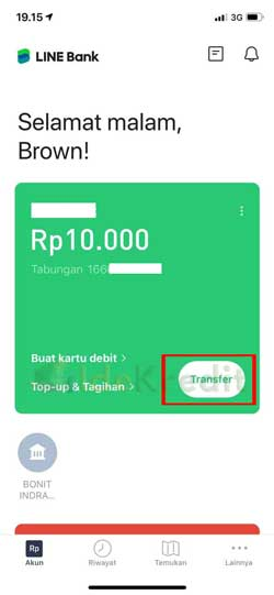 Masuk Aplikasi Line Bank