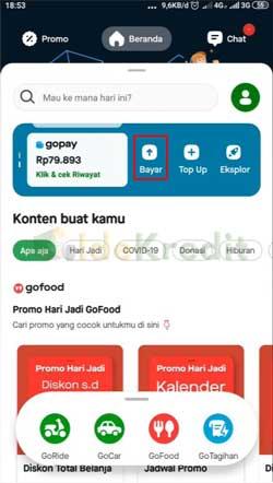 Masuk ke Aplikasi Gojek