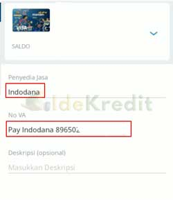 Masukkan Data Pembayaran