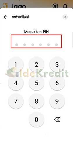 Masukkan PIN Bank Jago 1