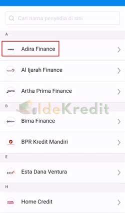Pilih Adira Finance