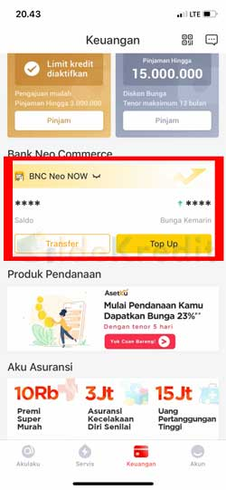 Pilih Bank BNC Neo Now