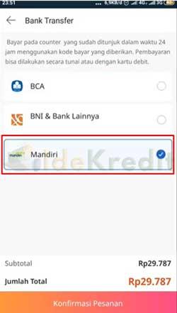 Pilih Bank Mandiri