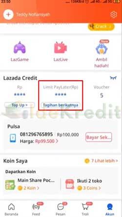 Pilih Limit Paylater 2