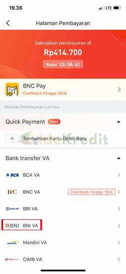 Pilih Metode Pembayaran 1