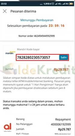 Salin Kode Pembayaran 7