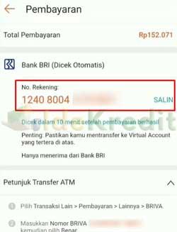 Salin Nomor Rekening Pembayaran