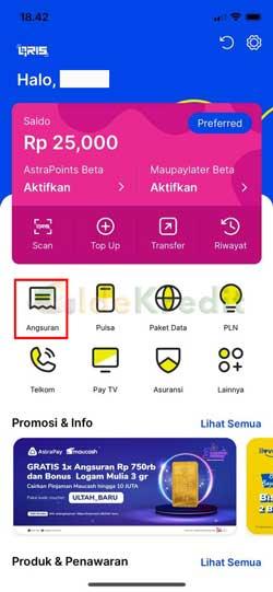 Buka Aplikasi AstraPay 1