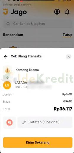 Cek Ulang Transaksi