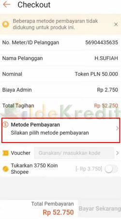 Klik Metode Pembayaran