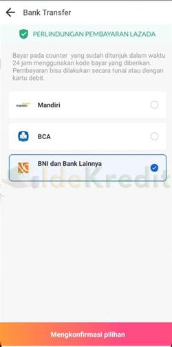 Pilih BNI Bank Lain