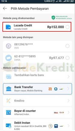 Pilih Lazada Credit