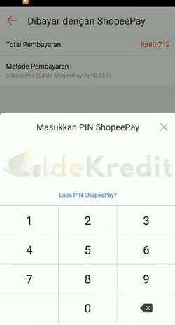 Masukkan PIN ShopeePay